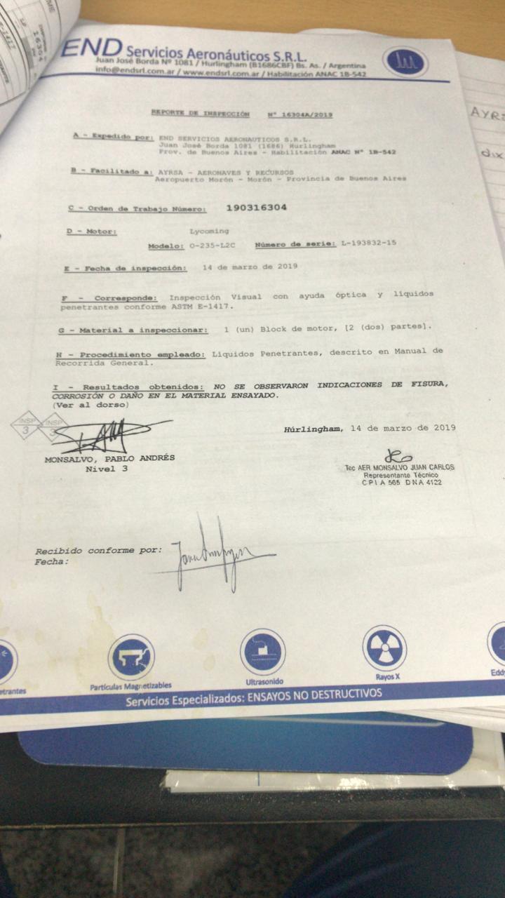 CIGUEÑAL DE LYCOMING
